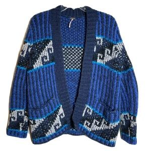 Free People Time Again Chunky Knit Cardigan XS